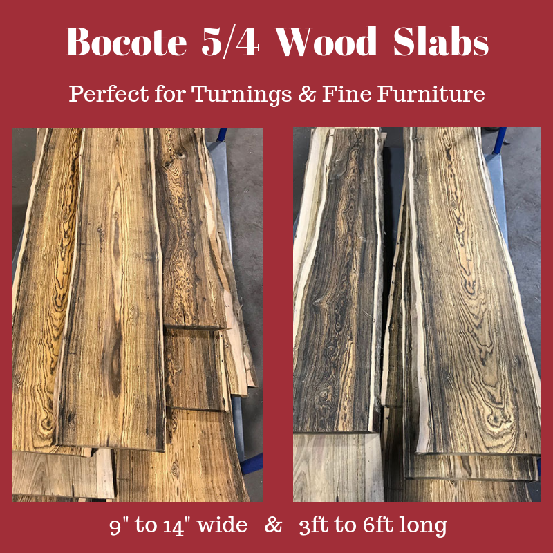 Bocote Hardwood Slabs – Product Highlight